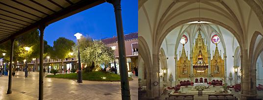 monumentos Daimiel, plaza de España e Iglesia de STa.Maria