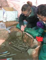 Trabajos de los arqueólogos